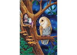 Owl and Fairy Tree, Crystal Art Notebook