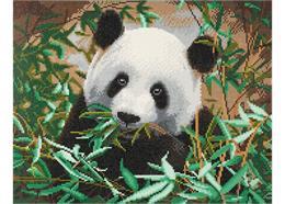 Panda affamé, 40x50cm Crystal Art Kit
