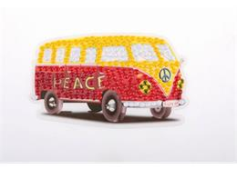 Peace Camper Van, 9x9cm Crystal Art Motif
