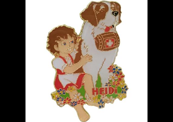 Pin Heidi mit Bernhardiner