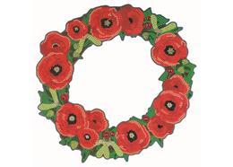 Poppy 30cm Crystal Art Wreath