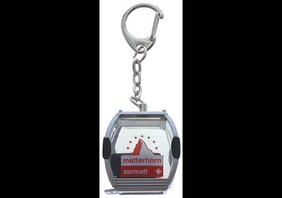 """Porte-clés télécabine argent """"Zermatt"""" Omega-IV, métal"""