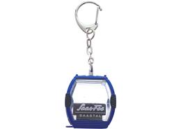 """Porte-clés télécabine bleu """"Saas-Fee"""" Omega-IV, métal"""
