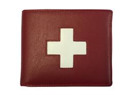 Portemonnaie Unisex rot mit CH-Kreuz (882.334063)