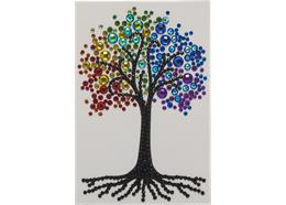 Rainbow Tree, 10x15cm Crystal Art Card