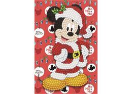 Santa Mickey, 10x15cm Crystal Art Card
