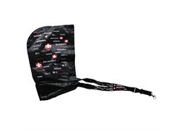 Schlüsselband mit Regenschutz Kapuze, schwarz