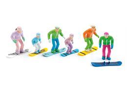 Set de 6 figures debout avec des snowboards HEAD