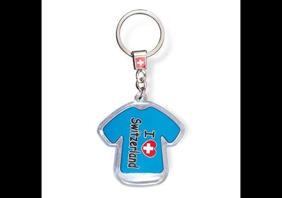 "SLA T-Shirt ""I love Switzerland"" mit LED, blau, 5.5 x 5 cm"