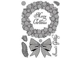 Sparkling Wreath, Crystal Art A5 Stamp