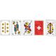 Swiss Flag Piquet Karten in transparenter Box