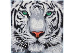 Tigre blanc, 30x30cm Crystal Art Kit