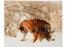 Tigres d'hiver, 40x50cm Crystal Art Kit