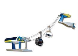 Uni-G Spielset Umlaufseilbahn blau/gelb 1:32