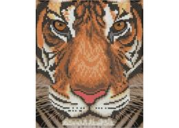Visage de tigre, image 21x25cm avec cadre Crystal Art