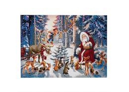 Weihnachten im Wald, 90x65cm Crystal Art Kit